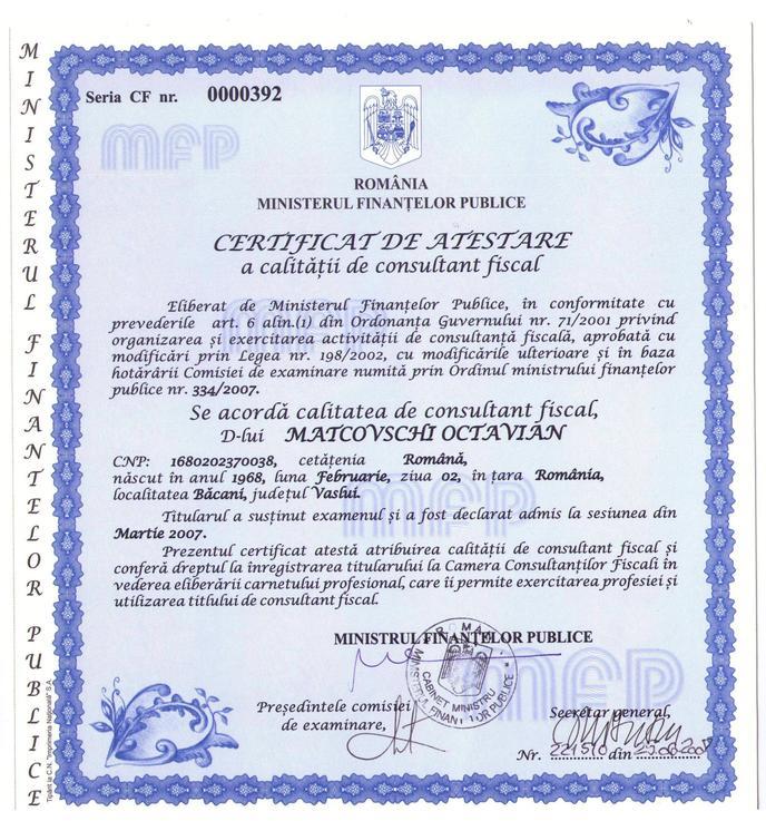 Autorizatie CCF