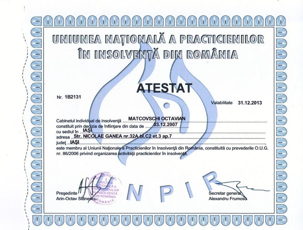 Autorizatie UNPIR